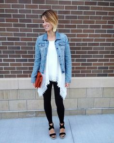 ONE little MOMMA: Everyday Style April   TEE- Chicwish // JACKET- Thrifted // LEGGINGS- Nordstrom // SHOES- Thrifted // CLUTCH- Stitch Fix // EARRINGS- N&S (Signature Gold- large)