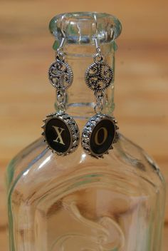 Typewriter Key Earrings  X and O Kiisses and Hugs by JustWearThese, $18.00