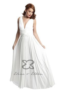 Eliza and Ethan - Multiway - Infinity -  Bridesmaids Dresses - OneSize - Maxi MultiWrap Dress Color: Ivory