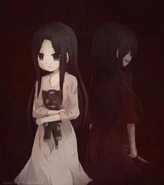 everyone has their bad side >:) sachiko corpse party Yandere Girl, Yandere Anime, Chica Anime Manga, Anime Art, Corpse Party, Neko, Blood Anime, Psycho Girl, Mad Father