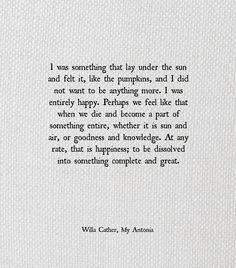 Willa Cather, My Antonia
