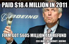 CEO of Boeing Got Paid $18.4 Million. The Firm Got A $605 Million Dollar Tax Refund From The US. We paid his salary.