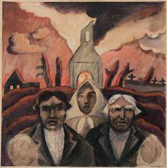 Jāzeps GROSVALDS | Latvian | Latvia 1891 –  Paris, France 1920 | Post-Impressionism, Modernism.   Refugees, 1915