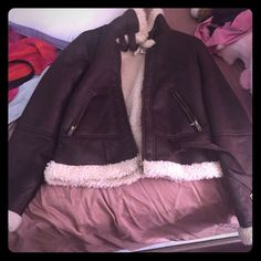 Brown and white forever 21 jacket Never warn, very comfy and cute ! Forever 21 Jackets & Coats
