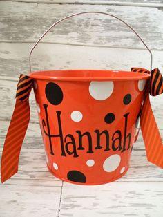 Personalized Halloween Bucket $22.00