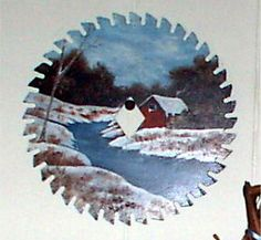 Hand Painted Saw Blade Made to Order