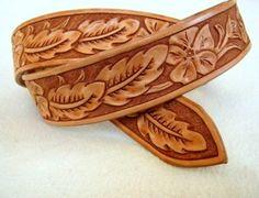 """Oak Leaf Pattern old west Ranger Style, 38 size"""