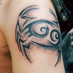 Cancer crab tattoo
