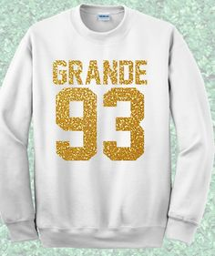 Like and Share if you want this  Grande 93 Birthday Jersey Number Crewneck Sweatshirt     Grande 93 Birthday Jersey Number Crewneck Sweatshirt.  Available in Unisex super soft Sweatshirts in a choice of Black, Gray and White.  Our Unisex Super soft Sweatshirts are a unisex relaxed/loose fitting Sweatshirt, perfect for a relaxed style.  If you need another size or the design on a T-shirt or Vest please visit     Tag a friend who would love this!     FREE Shipping Worldwide     Get it here…