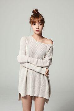 Basic Comfy Loose Knit Top