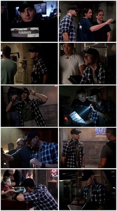 BTS with Director Jensen - #Supernatural 11x03 The Bad Seed [gifset] #ActionAckles    Jensen Ackles