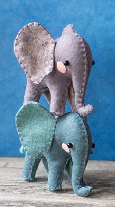 Adorable Felt DIY Elephants — Tools, Materials, Tutorial and Steps – Monkey Stuffed Animal Sewing Stuffed Animals, Elephant Stuffed Animal, Stuffed Animal Patterns, Felt Stuffed Animals, Hand Sewn Crafts, Easy Felt Crafts, Felt Crafts Patterns, Animal Sewing Patterns, Elephant Crafts