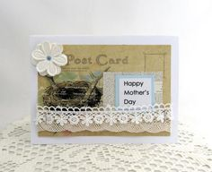 Mother's Day Card  Bird Nest Card  Card for Mom