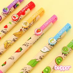 New Products - Blippo Kawaii Shop Cool Stationary, Stationary School, Fruit Birthday, 9th Birthday Parties, Stationery Pens, Kawaii Stationery, Japanese Pen, Cool School Supplies, Office Supplies