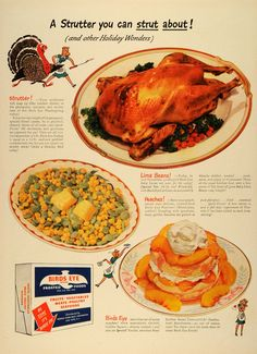 1942 ad for the Frosted Food Sales #Thanksgiving #Turkey #Yum #homecooking