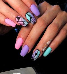 58 Popular nail designs How to choose your perfect nail polish summer nails art - VSCO ROOM Purple Nail Designs, Cute Acrylic Nail Designs, Nail Art Designs, Nails Design, Unique Nail Designs, Aztec Nail Designs, Summer Acrylic Nails, Best Acrylic Nails, Summer Nails