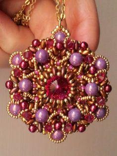 """Ciondolo """"Baroque"""" (Perline e Bijoux by Simona Svezia) """"Baroque"""" pendant (Perline e Bijoux by Simona Svezia)"""