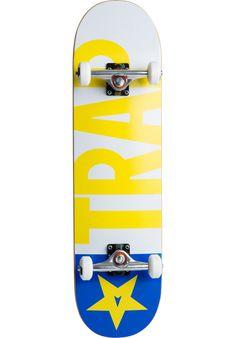 Trap Big-Flag, Skateboard-Complete, yellow-blue Titus Titus Skateshop #SkateboardComplete #Skateboard #titus #titusskateshop