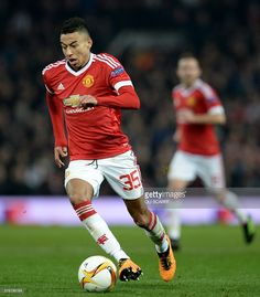 Manchester United's English midfielder Jesse Lingard runs with the ball during the UEFA Europa League round of second leg football match between Manchester United and Liverpool at Old Trafford in Manchester, north west England on March / AFP / OLI SCARFF Football Match, Football Boots, Jesse Lingard, Manchester United Football, Old Trafford, Europa League, North West, Liverpool, Soccer