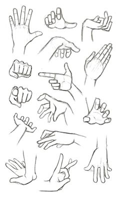 different hand gestures, how to draw anime girl, black and white, pencil sketch # anime drawings ▷ 1001 + ideas on how to draw anime - tutorials + pictures Anime Drawings Sketches, Manga Drawing, Easy Drawings, Anime Sketch, Sketches Of Hands, Pencil Drawings, Images Of Drawings, Drawings Of Men, Drawings Of Hands