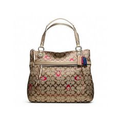 Coach Poppy Embroidered Signature C Glam Tote ($198) ❤ liked on Polyvore