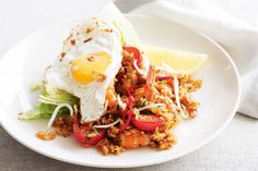 Indonesian delicious and traditional stir-fried rice dish.