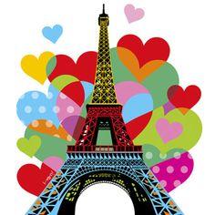 Artwork by Brazilian Pop Artist Lobo, inspire Paris Lobo | Pop Art #love #Paris