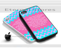 Audrey Hepburn Quote Chevron,For iPhone 4/4s Black Case Cover | Eternalstores - Accessories on ArtFire