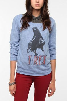 Junk Food T-Rex Long-Sleeved Tee -   Available at Urban Outfitters online  $39