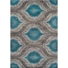 Hello, gorgeous! This teal and gray rug will brighten up any room. Modern Teal 5 x 7 Area Rug | Weekends Only Furniture and Mattress