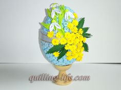 Items similar to Quilled Easter egg with spring flowers Quilling egg with flowers Spring decor Happy Easter Ornaments Easter Decorations Easter Gifts on Etsy Paper Quilling Tutorial, 3d Quilling, Egg Decorating, Decorating Your Home, Quilling Techniques, Paper Strips, Easter Holidays, Spring Flowers, Easter Eggs
