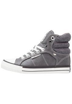 British Knights ATOLL Sneaker high dark grey Schuhe bei Zalando.de   Obermaterial: Lederimitat/ Textil, Innenmaterial: Textil, Sohle: Kunststoff, Decksohle: Textil   Schuhe jetzt versandkostenfrei bei Zalando.de bestellen!