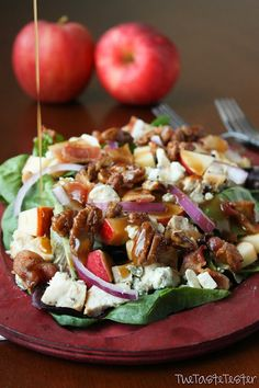 Apple Chicken Salad with Garlic Dijon Vinaigrette ~ yummy recipe by taste-tester.com