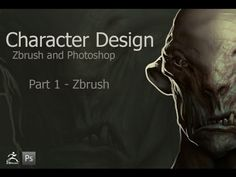 Character Design Zbrush to Photoshop - Part 1 - YouTube