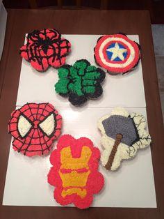 Avenger's Logo Cupcake Cake