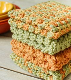 Make a stack of dishcloths to brighten up your kitchen or as a beautiful handmade gift.