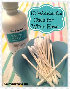 Uses for Witch Hazel Are you familiar with all of the wonderful uses for witch hazel? If not, you need to be! Here are 10 uses for around the house.