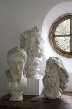 Magnificent plaster busts