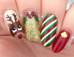Christmas nails Related posts: 51 Christmas Nail Art Designs & Ideas for 2018 51 Christmas Nail Art Designs & Ideas for 2018 71 Christmas Nail … Cute Christmas Nails, Christmas Manicure, Christmas Nail Art Designs, Holiday Nail Art, Xmas Nails, Winter Nail Art, Winter Nails, Reindeer Christmas, Christmas 2019