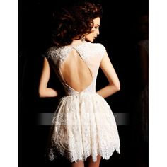 Formal Dresses with Lace Sleeves | Lace Mini Dress With Cap Sleeves Short Prom Dress Cocktail Dresses ...