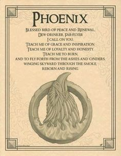 Book of Shadows: phoenix evocation