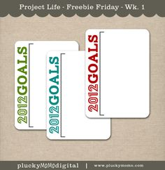 This being the very first week of 2012 I thought it would be appropriate to give a freebie with a chance to jot down some of your New Year's resolutions!  This file features three cards with different color titles so you can choose which you like best!