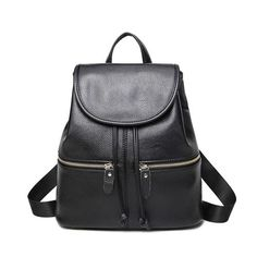 Cheap bags for teenager, Buy Quality fashion women backpack directly from China women backpack Suppliers: 2017 Women Backpack Fashion PU Leather Shoulder Bags School Travel Bag For Teenager Girls Backpack Mochila Feminina Black Leather Backpacks For Girls, Vintage Backpacks, Girl Backpacks, School Bags For Girls, Shoulder Bags For School, Black School Bags, Black Leather Backpack, Leather Shoulder Bag, Pu Leather