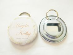 Personalized Bottle Openers with Key Ring- Any Design - Party Favor, Wedding Favor, Groomsman Gift, Prizes, Fundraisers