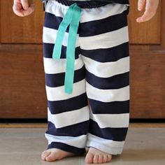 Easy baby pants sewing pattern