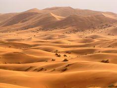 The vastness of the Erg Chebbi Sand Dunes in the Sahara Desert of Morocco