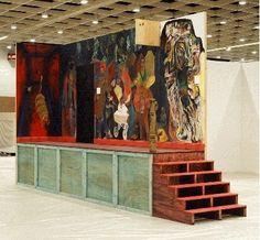 """Kai Althoff  Kai Althoff/Lutz Braun  """"Wachsende Ruine"""", 2006  Installationsansicht  Open Space/Art Cologne 2006  Photo: Simon Vogel"""
