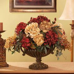 Grande Silk Hydrangea Silk Flower Arrangement Floral Home Decor Florals: Arrangements Faux