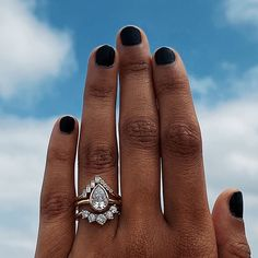 Photo by Marrow Fine by Jillian Sassone on July 28, 2020. Image may contain: one or more people, ring, sky and closeup  #Regram via @CDPtSVYHcCV Fine Jewelry, Jewelry Making, Ring Crafts, Beautiful Engagement Rings, Green Tourmaline, Stackable Rings, Unique Weddings, Rings For Men, Silver Rings