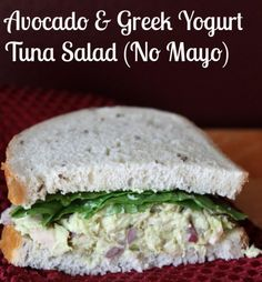 Avocado and Greek Yogurt Tuna Salad Recipe (No Mayonnaise) - Made this twice now, it's delicious ~Trevor
